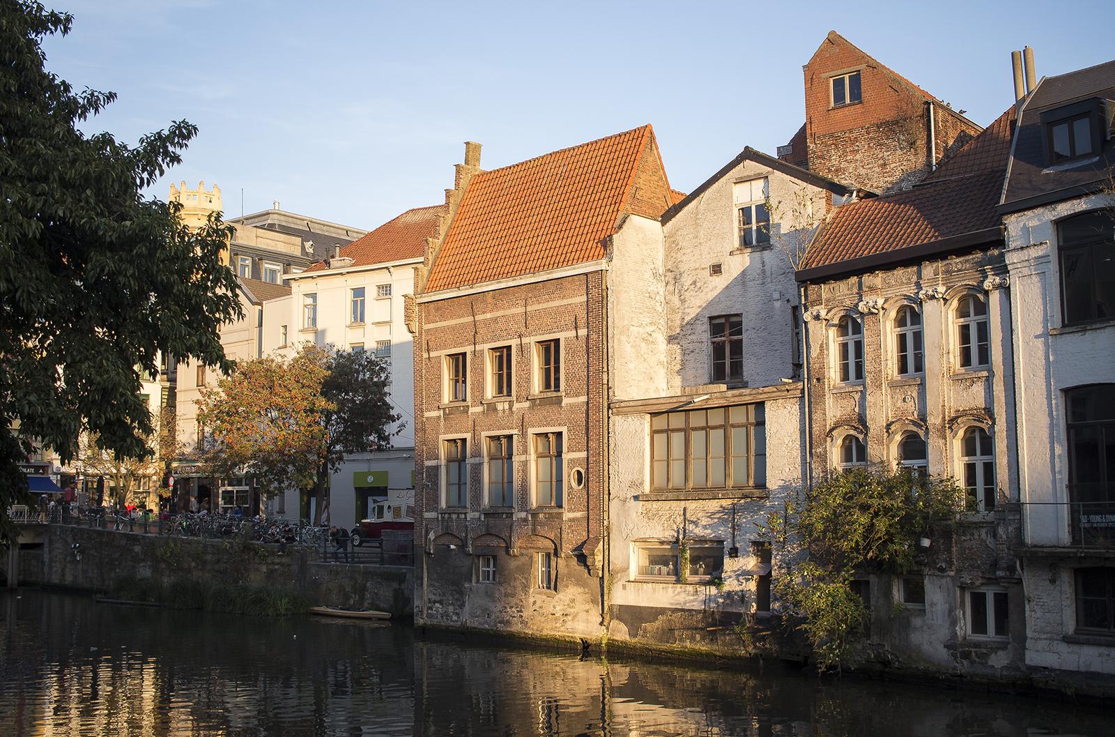 ghent gand gent canal belgium belgie belgique